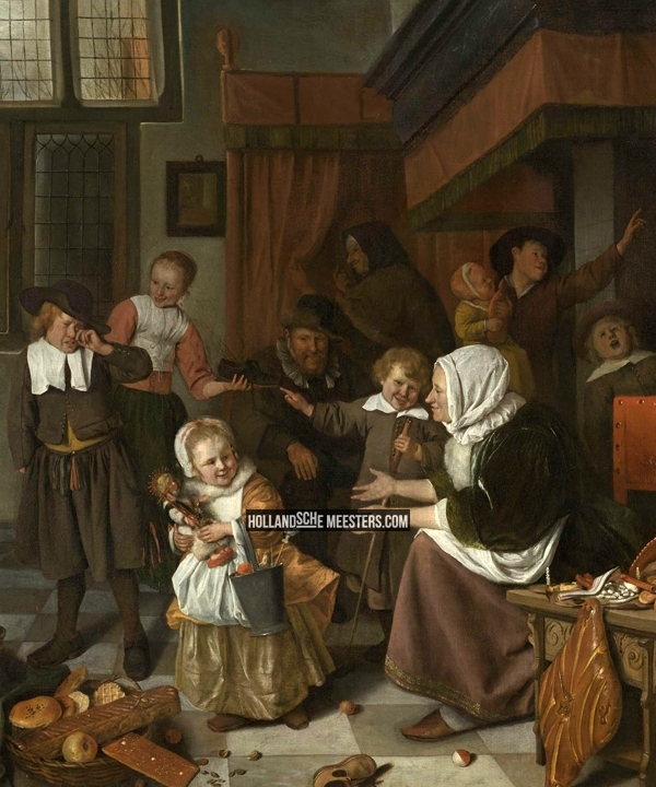 Het Sint Nicolaasfeest | Jan Havicksz. Steen