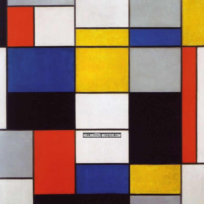 Compositie A : Piet Mondriaan : Canvas doeken en Art-wall behang van ...